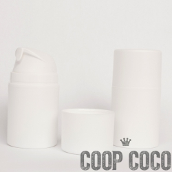 "Bottle, ""Airless"" Pump System, WHITE 50 mL"