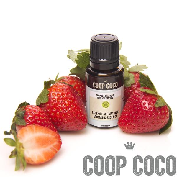 fraise essence aromatique bio coop coco. Black Bedroom Furniture Sets. Home Design Ideas